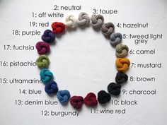 Pick three colors. Set of three wool lapel pin. Mens by ylleanna
