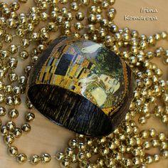 Women's Wood Bracelet Boho Bangle Gold Wood от MissDecoupage