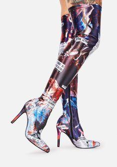 Chunky Heel Platform Boots, Black Platform Boots, Black Boots, Heeled Boots, Knee High Heels, Thigh High Boots, Knee Boots, Lace Up High Heels, Rider Boots