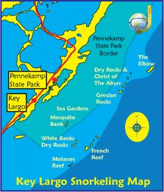Key Largo Snorkeling Map