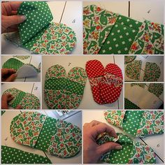 Easy Sewing Projects, Sewing Hacks, Projects To Try, Sewing Tips, Pinterest Tutorial, Quilted Potholders, Mittens, Pot Holders, Give It To Me