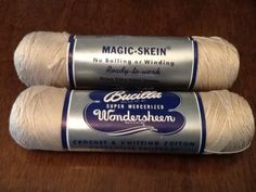 Bucilla Wondersheen Super Mercerized Cotton Knitting Crochet Thread Ecru 2 Skein Sold $5.00