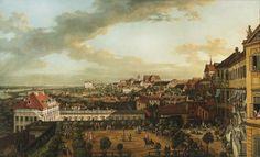"""BERNARDO BELLOTTO aka CANALETTO, """"VIEW OF WARSAW FROM THE TERRACE OF THE ROYAL CASTLE"""" ORIGINAL TITLE: """"WIDOK WARSZAWY Z TARASU ZAMKU KRÓLEWSKIEGO"""" 1773"""