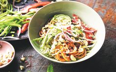 Raw pad thai with kaffir lime recipe - By FOOD TO LOVE, Enjoy this fresh and fragrant pad thai with kaffir lime. It's a healthy alternative to the high-carb classic. Amanda Brocket shares her recipe from The Raw Food Kitchen Book.