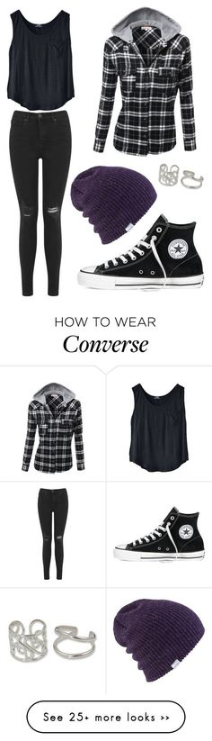 Untitled #2223 by picky-picky on Polyvore featuring Miss Selfridge, Coal, Converse and NOVICA