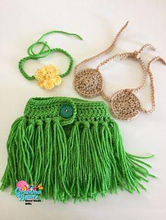 Crochet Baby Girl Name: 'Crocheting : Little Hula Girl Outfit - Love Crochet, Crochet For Kids, Knit Crochet, Ravelry Crochet, Beautiful Crochet, Crochet Skirts, Crochet Beanie, Crochet Bikini, Crochet Crafts