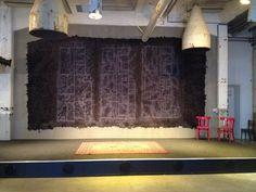 Wall hanging of handmade felt by GreenART Erica @Galeriecafé de Afzakkerij, CHV Noordkade, Veghel, Netherlands