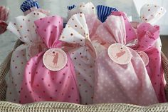 party favor bags... maybe a holiday print for packaging the handmade goodies?