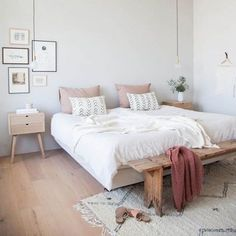 Neutrale slaapkamerinspiratie  [ Holly Marder for Avenue Lifestyle] #interieurinspiratie #interiordesign #interieur #interior #bedroom #slaapkamer