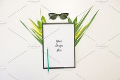 Pen Sunglasses and Leafs Graphics Make your brand stand out in the crowd! Perfect for content creators, marketers, bloggers, entrepr by AZ Creative Stocks
