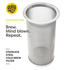 The Original Brew Tube - Cold Brew Coffee Maker - Reusable Stainless Steel Filter for Making Professional Cold Brew Concentrate and Tea at Home in a Mason Jar Cheap Coffee, Hot Coffee, Espresso Coffee, Black Rock Coffee, Coffee Milkshake, Making Cold Brew Coffee, Nitro Coffee, Coffee Review, Discount Coffee