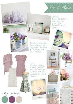 Carnet d'inspiration {lilas+céladon} par #lamarieeauxpiedsnus #wedding #inspiration    Sources: Robe lilas/ Robe mauve / photos / weheartit / Robe courte en dentelle / Robe céladon