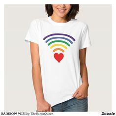 RAINBOW WIFI SHIRT. RAINBOW WIFI. RAINBOW LOVE. HEART EMITTING RAINBOW PULSES. WIFI LOVE. RAINBOW PULSE. RAINBOW PRIDE SHIRT. LGBTQ PRIDE WEAR. GAY PRIDE. LESBIAN PRIDE. TRANS PRIDE. RAINBOW LOVE. THE WORLD NEEDS MORE LOVE. MORE LOVE LESS HATE. #MORELOVELESSHATE. GAY NERD SHIRT. GAY WIFI. GAY IT GUY. RAINBOW HEART BEAT. GAYDAR.