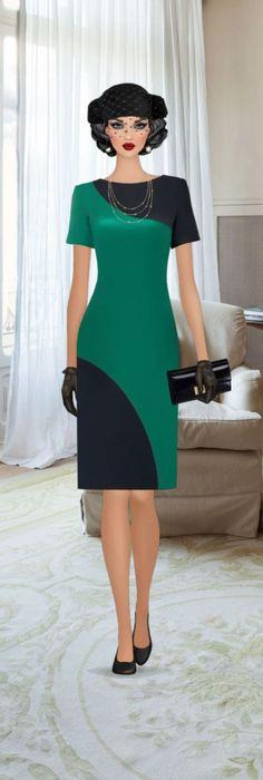 Like the dress, even if it is on a cartoon model