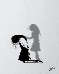 Sad Art Alone Trendy Ideas Sad Drawings, Dark Art Drawings, Art Drawings Sketches Simple, Pencil Art Drawings, Drawings Of Sadness, Sad Anime Girl, Anime Art Girl, Dark Art Illustrations, Illustration Art