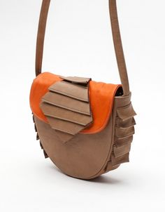 Cora Bag in Taupe and Salmon