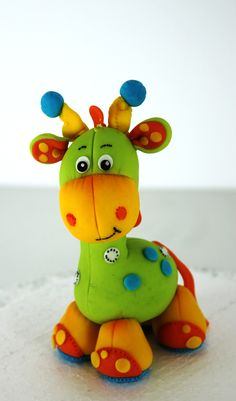 colorful giraffe #cake #topper by Victoria's Cakes