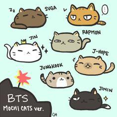 Bangtan Boys cat version #fanart