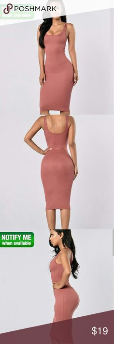 Brand new fashion nova dress Fitted ribbed dress.  Tag still attached Fashion Nova Dresses Midi