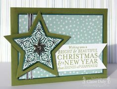 Love the saying.  Made with Stampin Up stars