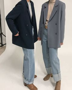 Oversized Blazers and Jeans Cute Skirt Outfits, Blazer Outfits, Cute Skirts, Trendy Outfits, Fashion Outfits, Womens Fashion, Look Fashion, Winter Fashion, Mode Dope