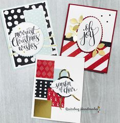 Quitabug Handmades: FREE Card Kit| October Club Quitabug #2: Stampin' Up! Watercolor Christmas