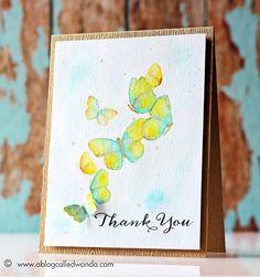 Wanda Guess: A Blog Called Wanda - Thank You Butterflies - Watercolor technique - 8/13/14