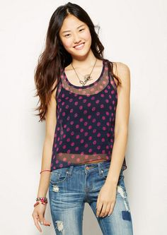 Dot High-Low Tank - View All Tops - Tops - Clothing - dELiA*s