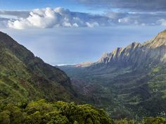 Kokee State Park on Kauai provides a stunning view of Hawaii's lush Nā Pali Coast. Golden beaches, hidden valleys, and soaring cliffs make this area a paradise for visitors. - natgeo
