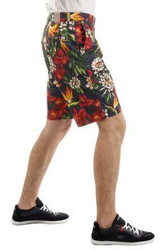 FRANKLIN MARSHALL cotton bermuda shorts in flower print (art. MITCH QUEEN S GARDEN)