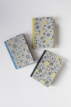 THE BOHEMIANS - 3 pocket notebooks, one ruled, one plain and one squared to note and draw, at the office or up on a chestnut tree. By Papier Tigre