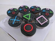Teen Boy Birthday Cake, 18th Birthday Cake For Guys, Birthday Cakes For Teens, Cute Birthday Cakes, Birthday Games, 10th Birthday, Ps4 Cake, Playstation Cake, Cupcakes For Boys
