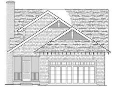 Rear Elevation of Bungalow   Cottage   Craftsman   Farmhouse  House Plan 86121