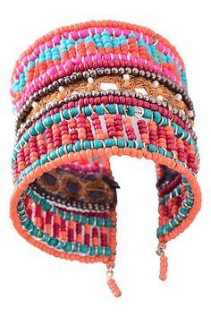 Jewel Cult - Ananya Boho Beaded Cuff Bracelet, $18.00 (http://www.jewelcult.com/ananya-boho-beaded-cuff-bracelet/)
