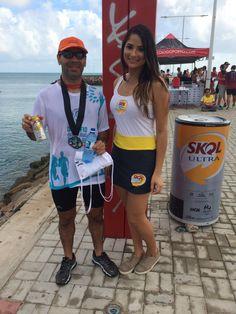Ativação da Skol Ultra durante evento Duathlon em Fortaleza.
