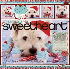 what I want to know is how they got the dog to sit still while surrounded by cupcakes.  ----A Project by Candice Greenway from our Scrapbooking Gallery originally submitted 02/05/09 at 07:39 AM