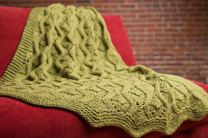 Afghan in Plymouth Yarn De Aire - 2594 - Downloadable PDF