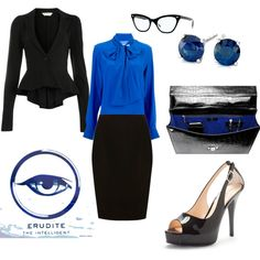 Erudite, created by jbon on Polyvore  If wearing closed toed shoes, this would be a fashionable interview choice as well.