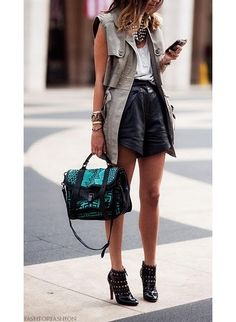 Spring Trend: Leather Shorts