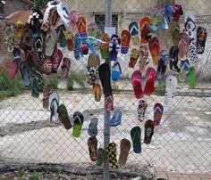 Flip Flop Art Fence - Manly by cndOz, via Flickr