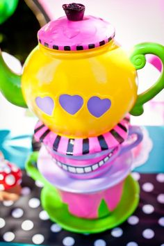 alice in wonderland tea pots   Colorful Teapot-Alice in Wonderland   Alice in Wonderland