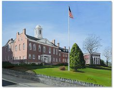 """""""Morristown Courthouse,"""" 2013 14 x 16 inch oil on canvas Scenes of Morristown NJ by artist Donald Felber"""