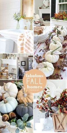 Be inspired to give your home a taste of fall with these 8 Fabulous Fall Homes at TidyMom.net