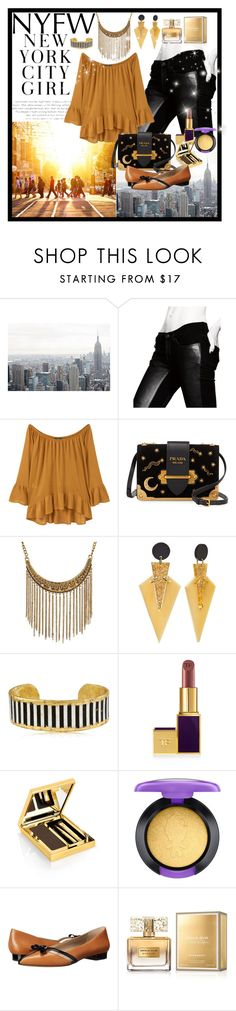 """NYC Fashion Week"" by giovanina-001 ❤ liked on Polyvore featuring Superfine, MANGO, Prada, Évocateur, Tom Ford, Elizabeth Arden, MAC Cosmetics, Michael Kors and Givenchy"