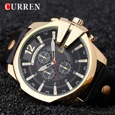 c68f6ea0466 CURREN Luxury Brand Relogio Masculino Date Leather Casual Watch Men Sport Watches  Quartz Military Wrist Watch