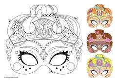 Masque à colorier | Eugénie Varone
