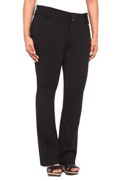 These black pants are perfectly suited for your busy life: they easily go from desk to dinner without blinking an eye. We love the streamlined silhouette - fitted through the thighs with a leg-lengthening slight flare at the knee. Slimming and defiantly sexy.