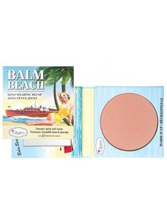 TheBalm Balm Beach! It's time to sit back and relax with #theBalm Cosmetic's staining powder blush, Balm Beach! This warm-neutral toned #blush is perfect for a nude, sun-kissed look or to compliment a smokin' hot eye or bold lip. With a satin-matte finish, it's smooth sailing for all skin types. Balm #Beach offers a flawless, fade-resistant formula, which means you can take your look from surf to turf without any touch-ups!