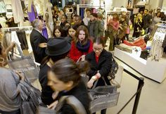 Lots of shoppers looking forward to snapping up some designer buys for high street prices