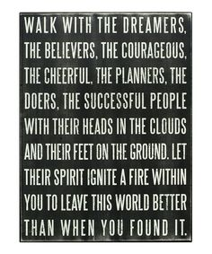 """Let their spirit ignite a fire within."" Yes."
